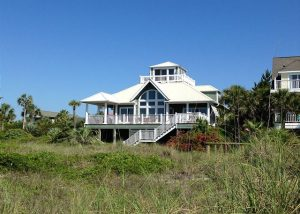 The outside of Bella Villa Vacation Rental on Isle of Palms