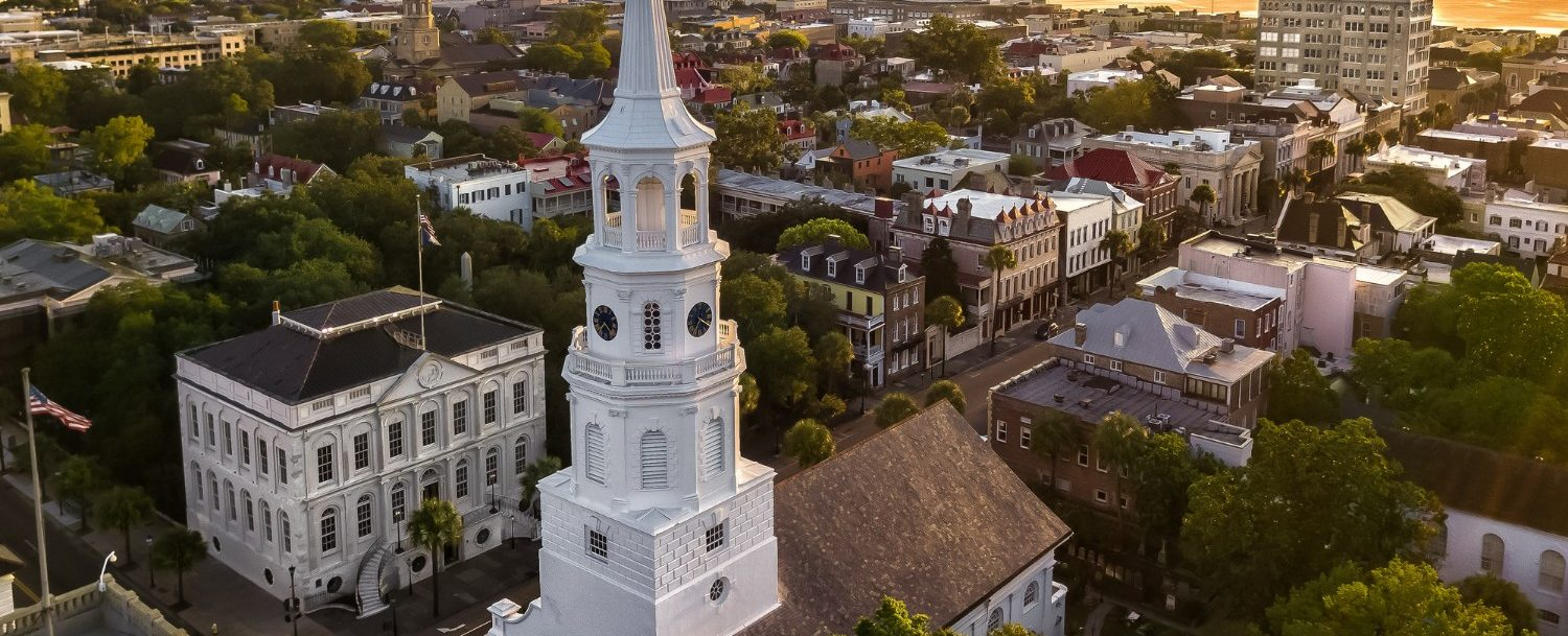 Historic Downtown Charleston at Sunset