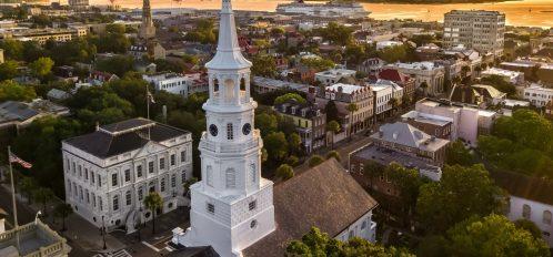 Historic Downtown Charleston at Sunset