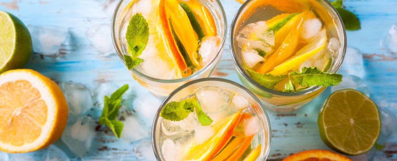 several citrus drinks